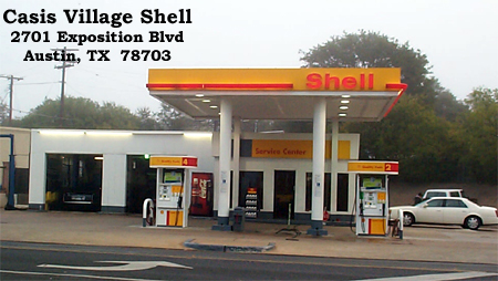 Casis Village Shell, 2701 Exposition Blvd., Austin, Tx  78703